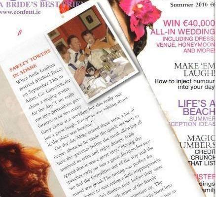 Irish Opera Singing waiters in Confetti Magazine