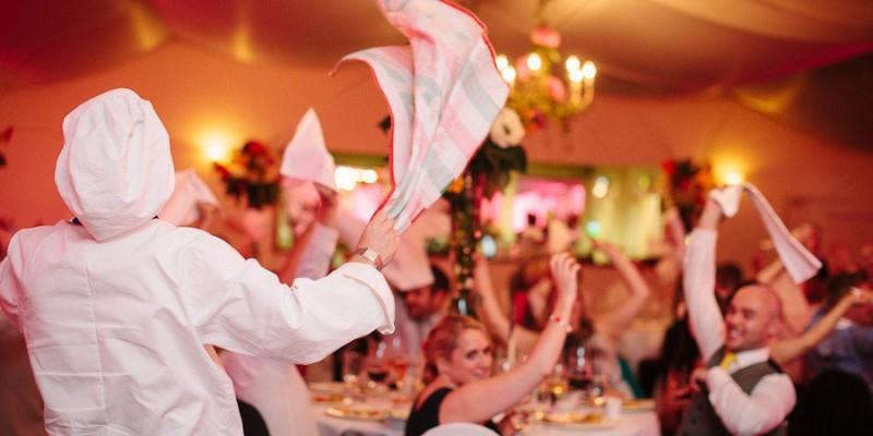 Oper Singende Kellner und Kellnerinnen