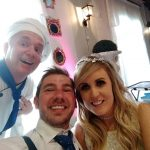 Singing chef wedding selfie
